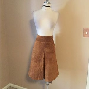 Inc brown leather mini skirt sexy Sz 12 Vtg Y2K